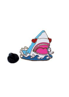 Love Shark Enamel Pin