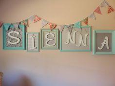 DIY Personalized Frames and Bunting - #nurserydecor #projectnursery