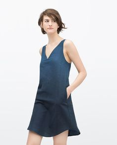 Image 3 of OMBRE INDIGO DRESS from Zara