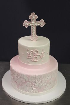 Pink and Pearl Baptism | by Alliance Bakery