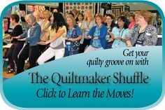 Get your quilty groove on with the Quiltmaker Shuffle. Choregraphed by Gudrun Erla of GE Designs. Share it with your quilt bee, guild and retreat buddies. Click through to read the story.