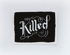 You Killed It Card 1pc