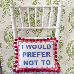The needlepoint queen will have you in stitches. Needlepoint Pillows, Needlepoint Patterns, Needlepoint Canvases, Successful Marriage, Home Interior Design, Photos, This Or That Questions, Photo And Video, Instagram