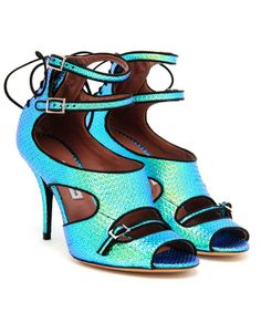 TABITHA SIMMONS | Tic Tac Textured Iridescent Pumps | Browns fashion & designer clothes & clothing