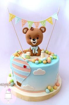 Ideas baby shower boy elephant cake first birthdays Baby Cakes, Baby Shower Cakes, Idee Baby Shower, Baby Boy Shower, Cupcake Cakes, Teddy Bear Cakes, Elephant Cakes, Baby Birthday Cakes, Amazing Wedding Cakes