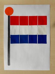 Nederlandse vlag | rood wit blauw | tellen | kleuters | Creative Kids, Netherlands, Homeschool, Freedom, Projects, Crafts, Geography, Carnival, Classroom