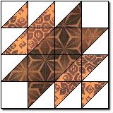 """Mrs. Taft's Choice block tutorial. This makes an 12"""" block and is from the early 1900's."""