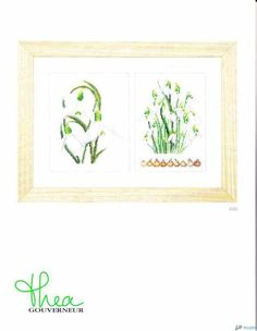 Thea Gouverneur 446 - Galanthus-Cross stitch Communication / Download-Cross stitch Patterns Scanned-PinDIY -