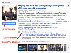 Three big changes to Google News including larger images, realtime updates and Google+ comments.