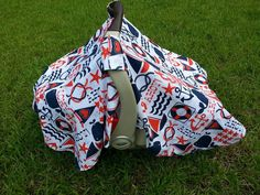 Nautical Baby Car Seat Cover in Ahoy Matey by Michael Miller // Ahoy Matey Baby // Nautical Car Seat Canopy Cover // Nautical Car Seat Tent by jennypennydesigns on Etsy https://www.etsy.com/listing/125436148/nautical-baby-car-seat-cover-in-ahoy