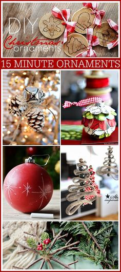 DIY Christmas Ornaments that you can make under 15 minutes at the36thavenue.com