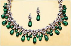 """Matronit""...only $9,200 or P404,800!! 8.68ct diamond & Emerald Neklace with Earring /65.450G! Imported, world-class quality, not pre-owned, not pawned, not stolen. We deliver worldwide <3"