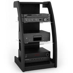 Amazon.com: Sonax ML-1220 Milan 21-Inch Wide Midnight Black Component Stand: Home & Kitchen