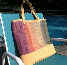 bag handwoven and sewn from handspun yarn - another option for weaving besides scarves