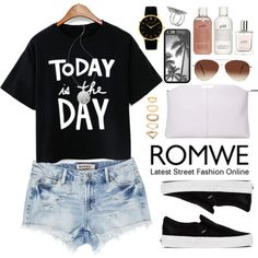 Romwe by oshint on Polyvore featuring polyvore, fashion, style, Vans, Larsson & Jennings, First People First, Forever 21, House of Harlow 1960, Eloquii, philosophy and romwe