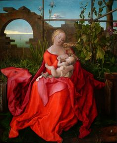 Albrecht Durer (1471 — 1528)- The Virgin and Child (The Madonna with the Iris)
