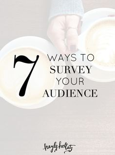 7 Ways to Survey Your Audience - Kayla Hollatz Wordpress, Blog Planning, Online Marketing, Content Marketing, Business Marketing, Digital Marketing, Business Tips, Online Business, Creative Business