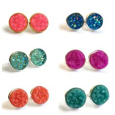 All new druzy colors are now available in the shop! 💖