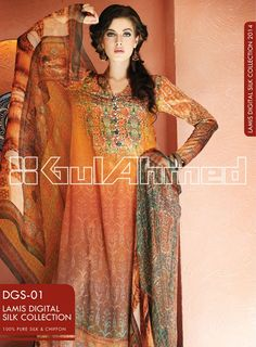 Gul Ahmed Women Dresses 2014 for Lamis Digital Silk  (10)