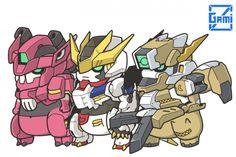 可愛到爆!! 日本插畫家畫Q版鐵... Blood Orphans, Gundam Iron Blooded Orphans, Robot Illustration, Gundam Wallpapers, Gundam Art, Mecha Anime, Gundam Model, Mobile Suit, Art Model