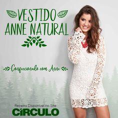 O crochê se reinventa ao longo dos anos e se tornou uma super tendência de moda. Este vestido confeccionado com Anne Natural é perfeito para compor um look no estilo boho. Clique na foto para conferir a receita completa.