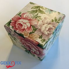 Isn't it nice? We wrapped the box in #Romantic self adhesive foil. Get inspired & get creative! #DIY #Box #Flowers