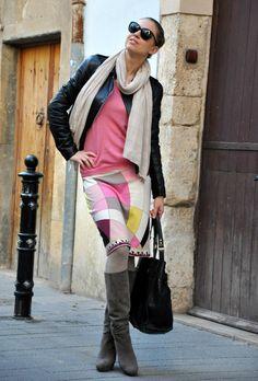 Primavera en pleno invierno  , Patrizia Pepe in Jackets, Dear cashmere in Sweaters, Emilio Pucci in Skirts, Gianni Marra in Boots, Zara in Scarves / Echarpes