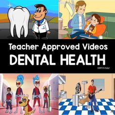 Health Videos Teacher approved list of Dental Health videos for preschool, kindergarten, and first grades.Teacher approved list of Dental Health videos for preschool, kindergarten, and first grades. Dental Health Month, Health Class, Health Lessons, Health Education, Science Education, Physical Education, Health Teacher, Teacher Education, Teaching Science