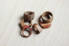 DIY Rings Of Natural Wood  - definitely wanna do this. Wooden rings would be DOPE.
