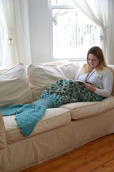 Knitting Instructions - Mermaid Tail - Mermaid Blanket - Knit Mermaid - Mermaid Pattern - Adult - PDF - Instant Download by TheFluffyBlanketFort on Etsy https://www.etsy.com/listing/264950486/knitting-instructions-mermaid-tail                                                                                                                                                                                 More
