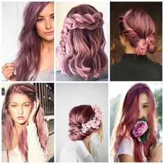 rose pink red purple dusty hair color