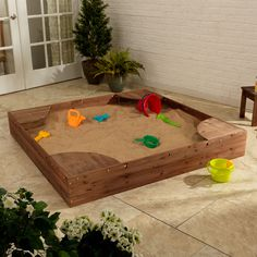 The Kidkraft Backyard Sandbox gives kids a perfect place to build sandcastles, dig for treasure and play with all of their favorite sand toys. Parents will love watching their kids have so much fun wi