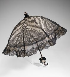 Parasol, Dupuy (French) ca.1895-1900 silk, wood, metal, synthetic