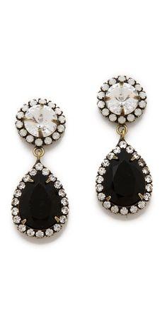 black + white swarovski crystal earrings. love these!