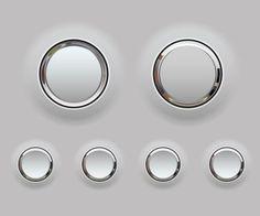 Plastic and chrome button ui inspirations design Web Design, Game Design, Icon Design, Design Trends, Logo Design, Gui Interface, User Interface Design, Ui Elements, Design Elements