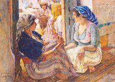 Femmes tunisiennes von Alexandre Roubtzoff