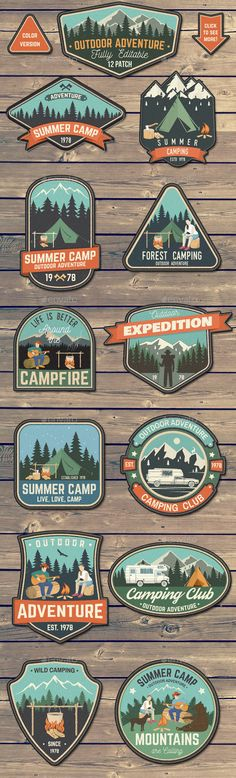 Outdoor Adventure Patches - #Badges & #Stickers #Web Elements