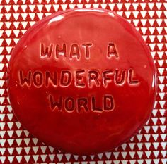 What A Wonderful World, Wonders Of The World, Art Pieces, My Etsy Shop, Peace, Ceramics, Homemade, Pocket, Unique Jewelry