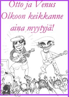A greeting card for my friends the guitarist and the bass player