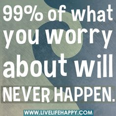 99% Of What You Worry About