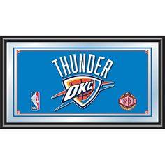 Trademark Global, Inc. Oklahoma City Thunder NBA Framed Logo Mirror