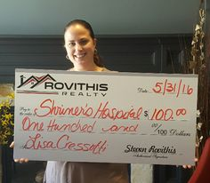 Congratulations Lisa Cressotti on the purchase of your lake house!  Thank you for putting your trust into Steven Rovithis and myself. As we do with every transaction, we will be donating to Shriners Hospital in your name.  #rovithisrealty #whoyouworkwithmatters