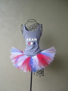 Running Tutu: Team USA Olympic Inspired Custom Racing Tank and Pixie Length inch) Tutu Running Tutu, Running Gear, Usa Olympics, Summer Olympics, Run Like A Girl, Girls Be Like, Team Costumes, Halloween Costumes, Marathon Plan