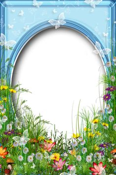 Cute PNG Summer Photo Frame with Flowers