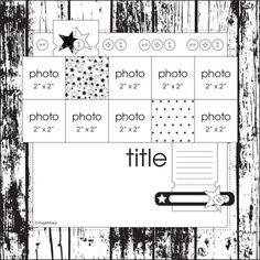 June 2012 PageMaps - Great layout for Instagram pics!