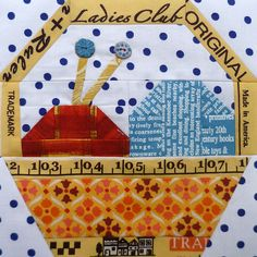Patchwork 318 Bee - Sewing Basket For Amisha by Charise *, via Flickr Quilt...
