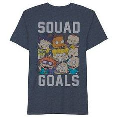 Men's Rugrats Squad Goals T-Shirt Blue : Target