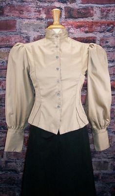 4a714482c2e6 Victorian and Edwardian 125475: Frontier Classics Victorian Khaki Fitted Old  West Blouse Steampunk Dickens -> BUY IT NOW ONLY: $39.95 on eBay!