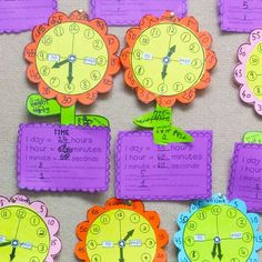 Combine a lesson on time {analog clock} with craft and creativity! This activity will provide you with template pieces to make a cute 'flower clock' to help students explore and understand the hour and minute hands. Teaching Time, Teaching Resources, Teaching Math, Telling Time Activities, Maths, Teaching Ideas, Classroom Posters, Classroom Activities, Learn To Tell Time