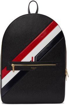 2755€ Thom Browne - Sac à dos noir Diagonal Stripe